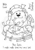 Woodware - Sticky Bear - Clear Magic Stamp Set - FRS712